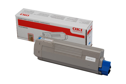 Mực in màu Oki C610C Cyan Toner Cartridge